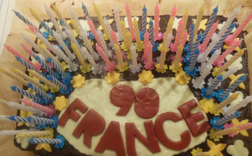 Torta za dedijev 90. rojstni dan
