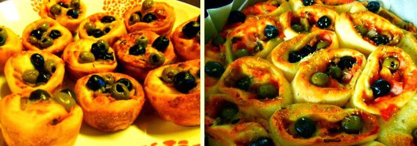 Pizza rolice in rožice