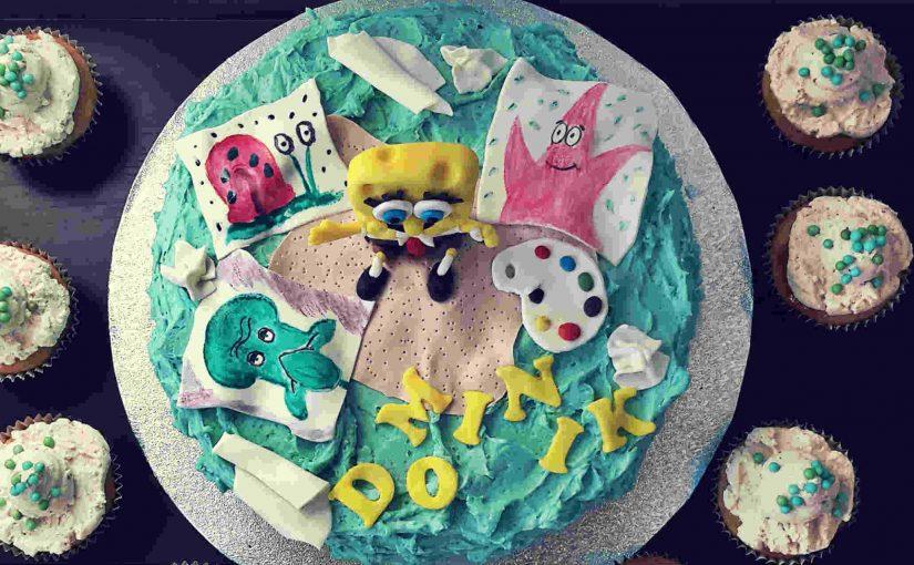 Sponge Bob slikar na torti
